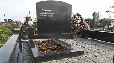 Заказ памятника на кладбище Ефремов Лампадка из лезниковского гранита Рошаль